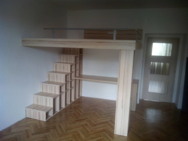 NON-TRADITIONAL BUNK BED WITH A PASSAGE