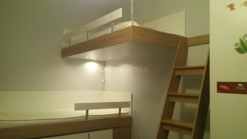 Bunk bed, suspended, L