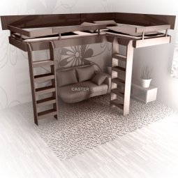Bunk beds High bunk bed L