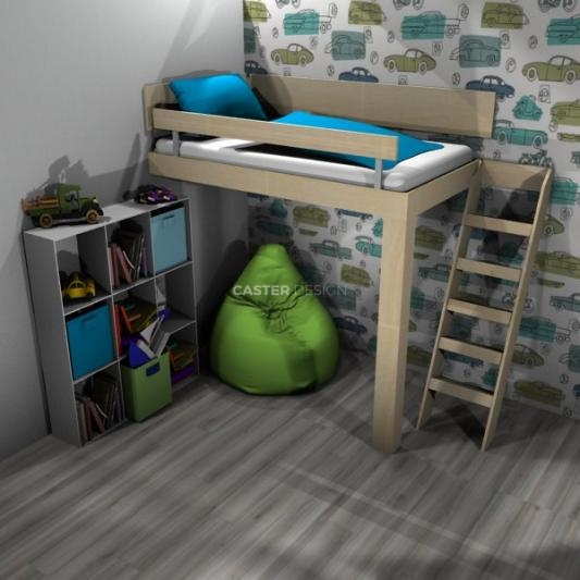 Bunk single bed