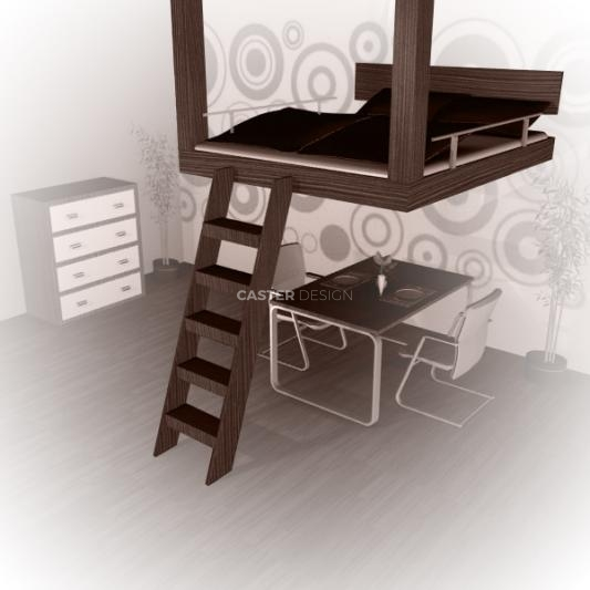 Bunk bed double, suspended