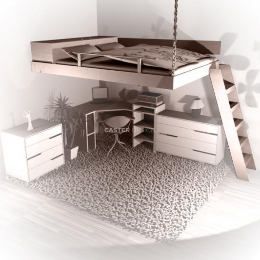 Loft, suspended beds
