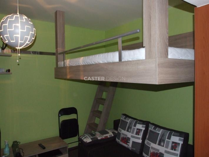 Bunk bed, hung sideways