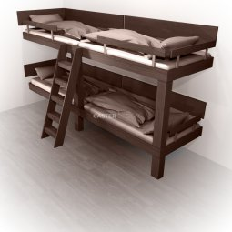 Bunk beds Quadruple bed