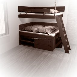 Bunk beds 2 x Double bed -chain hanging