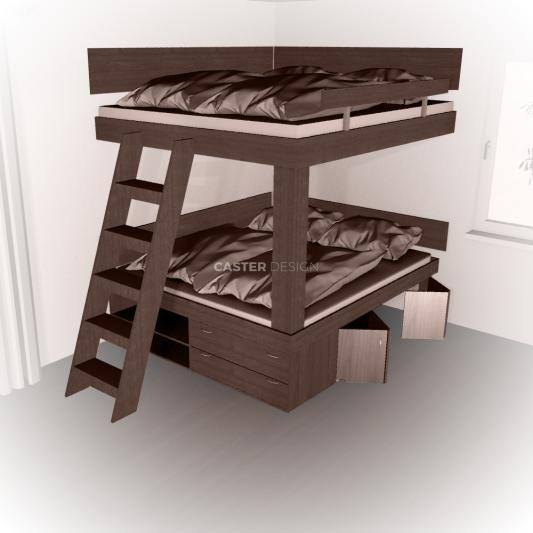 Bunk beds 2x Double bed